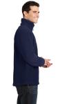 True Navy Port Authority Value Fleece 1/4-Zip Pullover as seen from the sleeveleft