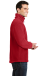 True Red Port Authority Value Fleece 1/4-Zip Pullover as seen from the sleeveleft
