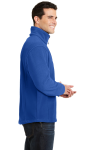 True Royal Port Authority Value Fleece 1/4-Zip Pullover as seen from the sleeveleft
