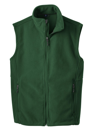 Forest Green Port Authority Value Fleece Vest as seen from the front