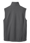 Iron Grey Port Authority Value Fleece Vest as seen from the back