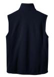 True Navy Port Authority Value Fleece Vest as seen from the back