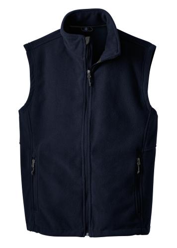 True Navy Port Authority Value Fleece Vest as seen from the front