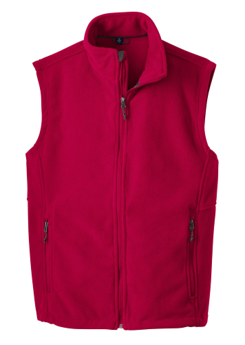 True Red Port Authority Value Fleece Vest as seen from the front
