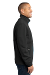 Black Port Authority Pique Fleece Jacket as seen from the sleeveleft