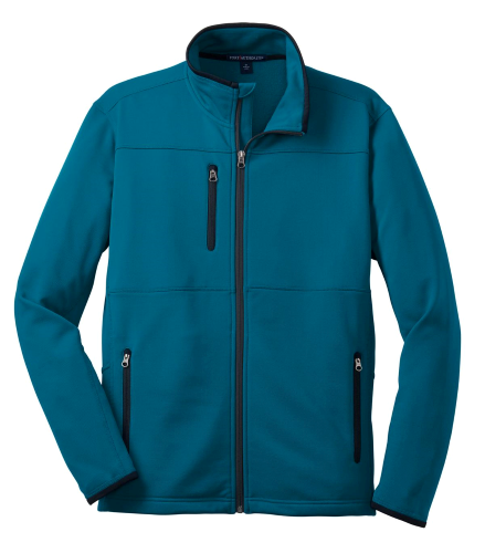 Blue Glacier Port Authority Pique Fleece Jacket as seen from the front