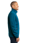 Blue Glacier Port Authority Pique Fleece Jacket as seen from the sleeveleft