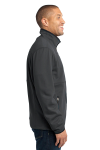 Graphite Port Authority Pique Fleece Jacket as seen from the sleeveleft