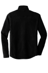 Black Port Authority Microfleece Jacket as seen from the back