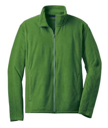 Chive Green Port Authority Microfleece Jacket as seen from the front