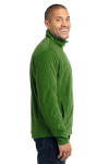Chive Green Port Authority Microfleece Jacket as seen from the sleeveleft