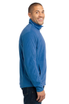 Light Royal Port Authority Microfleece Jacket as seen from the sleeveleft