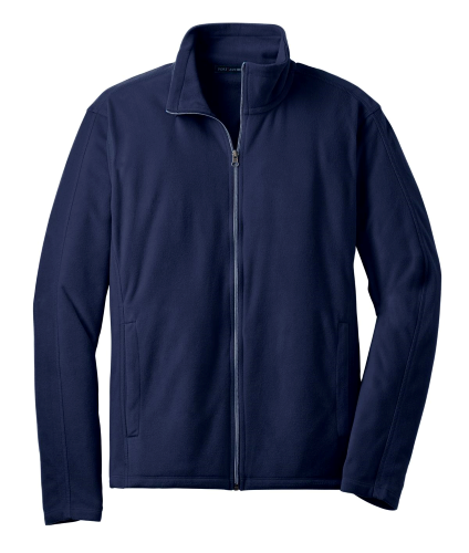 True Navy Port Authority Microfleece Jacket as seen from the front