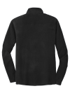Black Port Authority Microfleece 1/2-Zip Pullover. as seen from the back