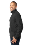Black Port Authority Microfleece 1/2-Zip Pullover. as seen from the sleeveleft