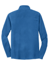 Light Royal Port Authority Microfleece 1/2-Zip Pullover. as seen from the back