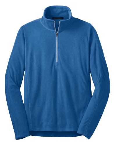 Light Royal Port Authority Microfleece 1/2-Zip Pullover. as seen from the front