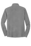 Pearl Grey Port Authority Microfleece 1/2-Zip Pullover. as seen from the back