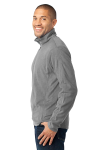 Pearl Grey Port Authority Microfleece 1/2-Zip Pullover. as seen from the sleeveleft