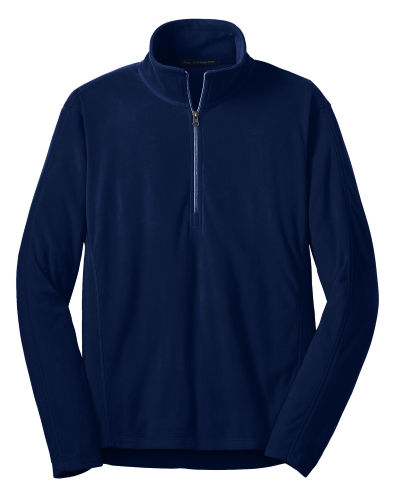 True Navy Port Authority Microfleece 1/2-Zip Pullover. as seen from the front