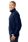 True Navy Port Authority Microfleece 1/2-Zip Pullover. as seen from the sleeveleft