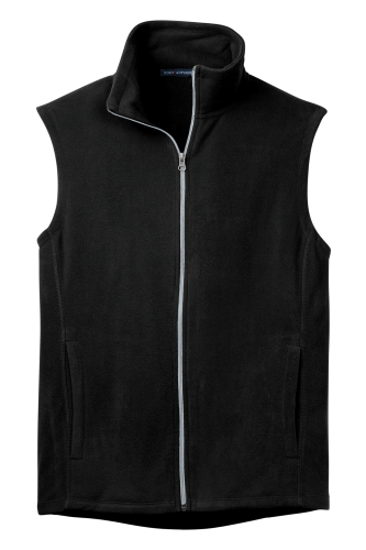 Black Port Authority Microfleece Vest as seen from the front