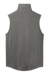 Pearl Grey Port Authority Microfleece Vest as seen from the back