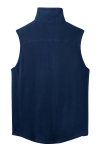 True Navy Port Authority Microfleece Vest as seen from the back