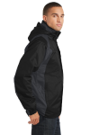 Black Ink Grey Port Authority Ranger 3-in-1 Jacket as seen from the sleeveleft