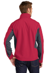 Rich Rd Bat Gy Port Authority Core Colorblock Soft Shell Jacket as seen from the back