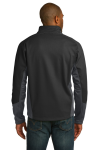 Black Mag Grey Port Authority Vertical Soft Shell Jacket as seen from the back