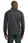 Mag Grey Black Port Authority Vertical Soft Shell Jacket as seen from the back