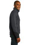 Mag Grey Black Port Authority Vertical Soft Shell Jacket as seen from the sleeveleft
