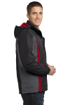 Blk Mag Gy Red Port Authority Colorblock 3-in-1 Jacket as seen from the sleeveleft