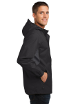 Blk Magnet Gry Port Authority Cascade Waterproof Jacket as seen from the sleeveleft