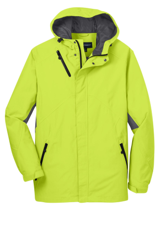 Chg Grn Mag Gy Port Authority Cascade Waterproof Jacket as seen from the front