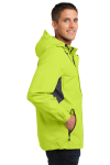 Chg Grn Mag Gy Port Authority Cascade Waterproof Jacket as seen from the sleeveleft