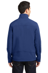 Estate Blue Port Authority Welded Soft Shell Jacket as seen from the back
