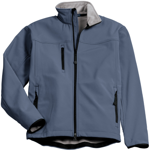 Atlblue Chrome Port Authority Glacier Soft Shell Jacket as seen from the front