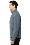 Atlblue Chrome Port Authority Glacier Soft Shell Jacket as seen from the sleeveleft