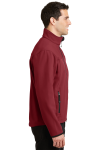 Cald.red Chrom Port Authority Glacier Soft Shell Jacket as seen from the sleeveleft