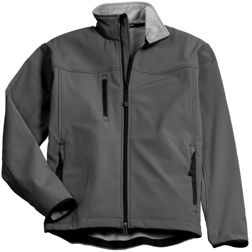 Smk Gry Chrome Port Authority Glacier Soft Shell Jacket as seen from the front