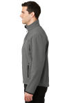Smk Gry Chrome Port Authority Glacier Soft Shell Jacket as seen from the sleeveleft