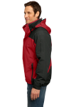 Engine Red Blk Port Authority Nootka Jacket as seen from the sleeveleft