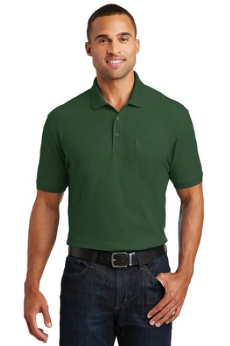 Port Authority Core Classic Pique Pocket Polo - Embroidered