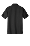 Black Port Authority Performance Vertical Pique Polo as seen from the back