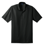 Black Port Authority Performance Vertical Pique Polo as seen from the front