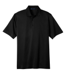 Black Port Authority Tech Pique Polo as seen from the front