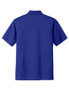 Bright Royal Port Authority Tech Pique Polo as seen from the back
