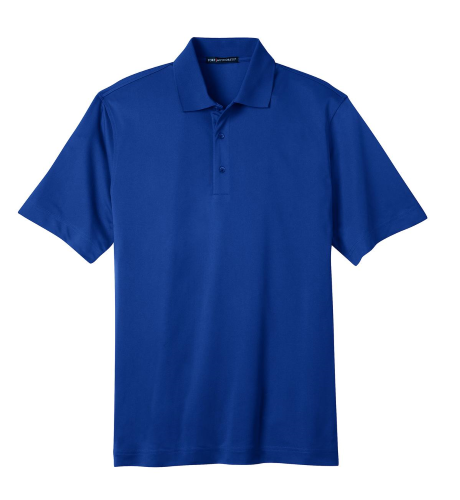 Bright Royal Port Authority Tech Pique Polo as seen from the front